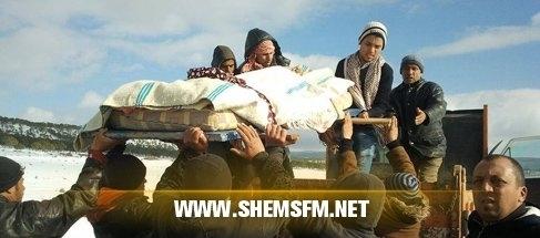 جهوي: ❖❖❖القصرين عجوز تدفن أيام وفاتها بسبب تساقط الثلوج ❖❖❖ media_temp_142031836