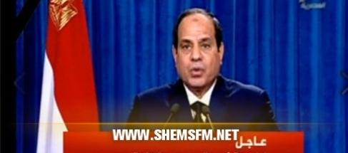 """السيسي :""""مصر سترد بقوة وبالطريقة التي تراها مناسبة قتلة المواطنين media_temp_142404027"""