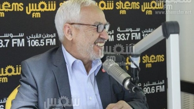 Rached Ghannouchi invité de Studio Shems