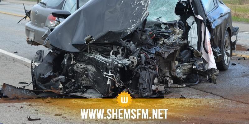 Bizerte : deux morts dans une collision de deux voitures