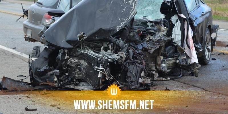 بنزرت: وفاة شخصين وإصابة ركاب اخرين في حادث اصطدام سيارتين