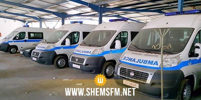 قطر تسلم 15 سيارة إسعاف لوزارة الصحة