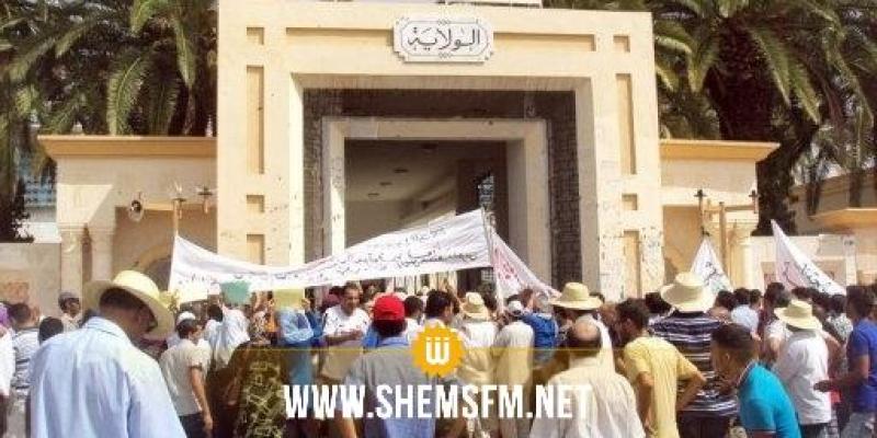 Sidi Bouzid : plus de 400 ouvriers de chantier protestent