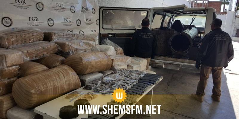 بالصور - المكسيك: مصادرة مدفع يطلق حزم من المخدرات عبر الحدود الأميركية مع المكسيك