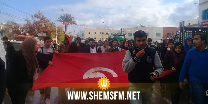مدنين: مسيرات في عدد من المعتمديات تنديدا بإعلان القدس عاصمة للكيان الصهيوني (صور)