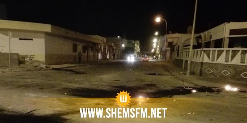 قابس: ليلة هادئة ووقفة مساندة للأمنيين في الحامة