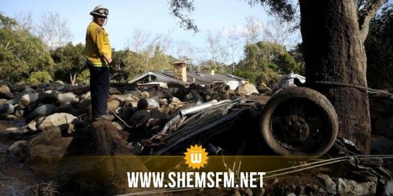 USA: 17 morts et 8 personnes portées disparues après des glissements de terrain en Californie