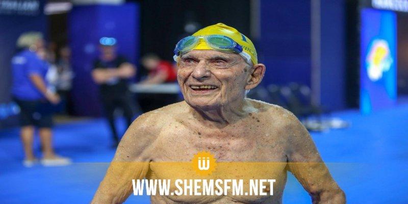 Natation : à 99 ans, il bat un record du monde du 50 m nage libre (video)