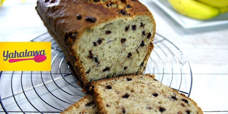 Cake banane aux pépites de chocolat proposée par Yahalawa.net