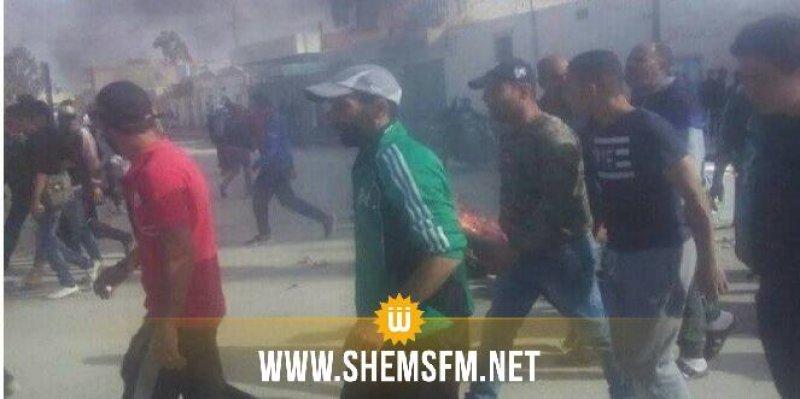Protestation à Jelma contre le raccordement du puits de Souabia