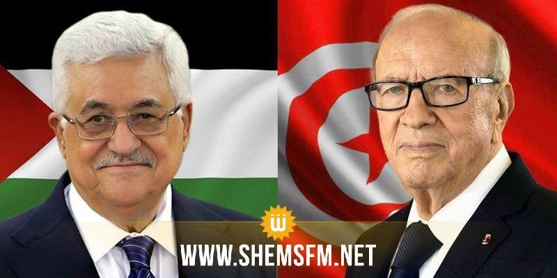 رئيس الجمهورية يجري اتصالا هاتفيا مع محمود عباس