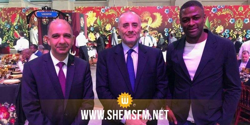طارق بوشماوي وراضي الجعايدي يزوران المنتخب