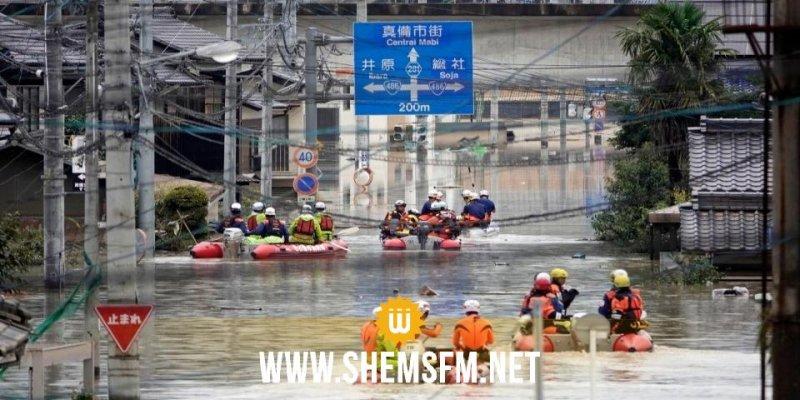 Japon : Les pluies diluviennes font au moins 155 morts