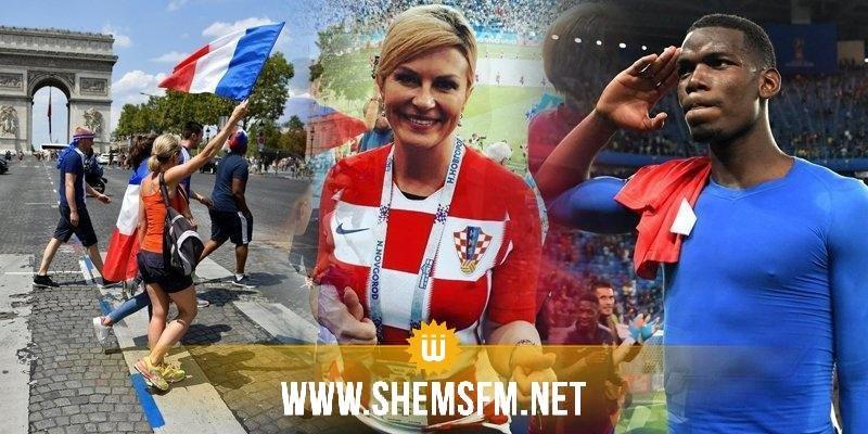 مونديال 2018: فرنسا تنهي الحلم الكرواتي وتحرز اللقب الثاني في تاريخها