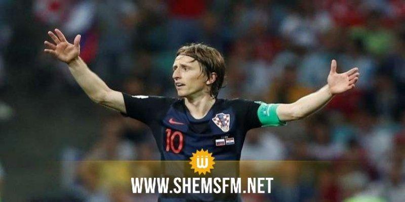 الكرواتي لوكا مودريتش أفضل لاعب في مونديال روسيا