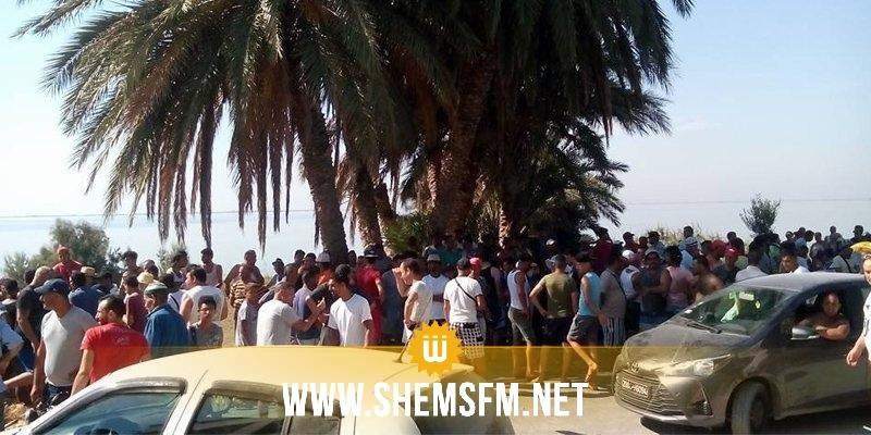 La route menant vers les plages de Sidi Ali Mekki et Ghar el Meleh bloquée