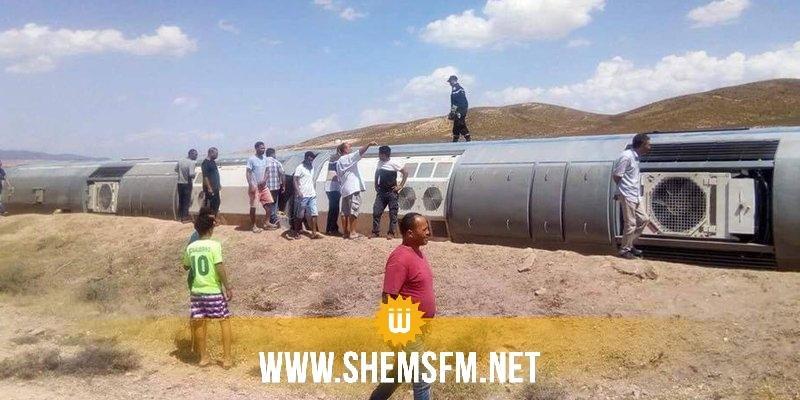 Le renversement d'un train à Dahmani fait trois blessés