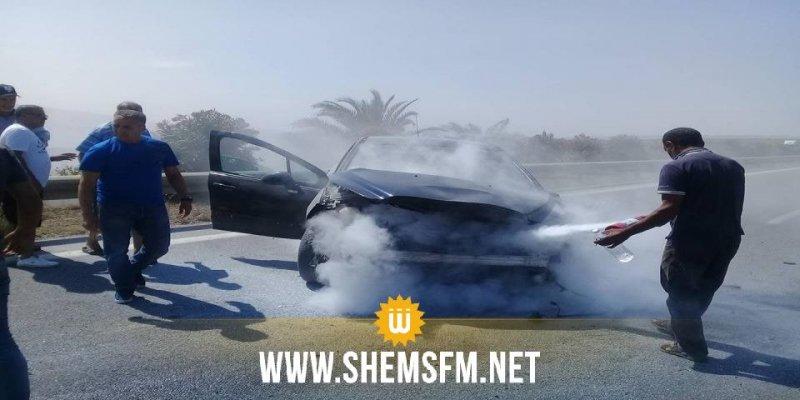بالصور: انقلاب سيارة واصطدامها بأخرى بين تونس وبنزرت