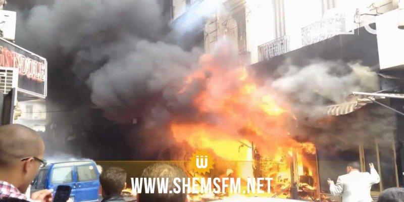 سوسة: حريق وراء محطة التطهير بسيدي عبد الحميد