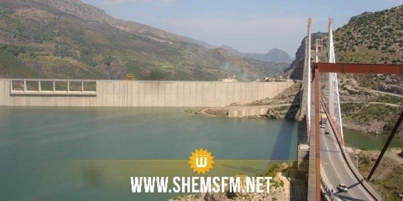 سد سيدي سعد: انتهاء عملية إزالة الترسبات وبلوغ مخزونه 83 مليون متر مكعب