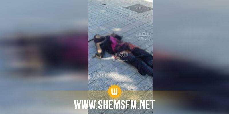 شارع الحبيب بورقيبة: رفع جثة الإنتحارية من مكان التفجير