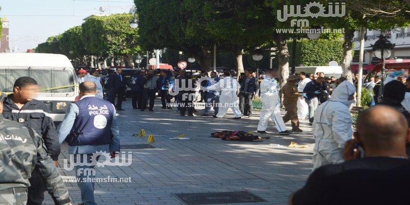 انفجار في شارع الحبيب بورقيبة