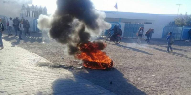 خلال احتجاجات تلميذية: إصابة تلميذ بحروق على مستوى وجهه بالقيروان