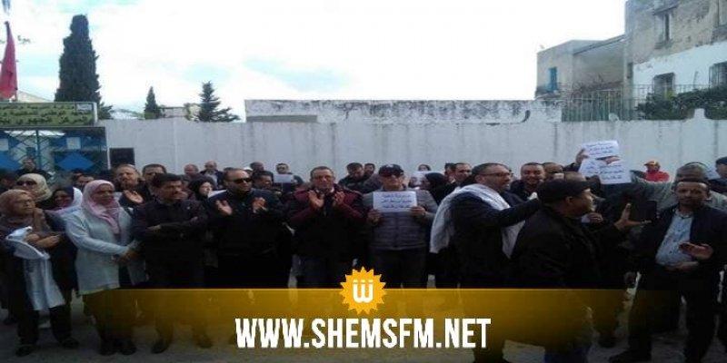 بـ'السترات البيضاء': الأساتذة في اعتصام مفتوح ببنزرت