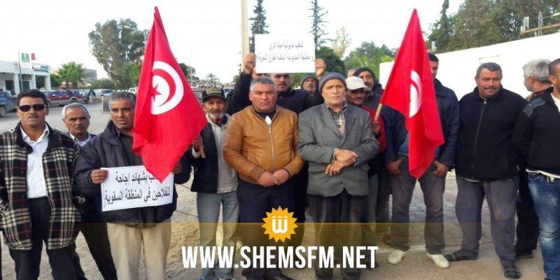 باجة - قبلاط: الفلاحون يحتجون للمطالبة بمياه الري وشطب المديونية