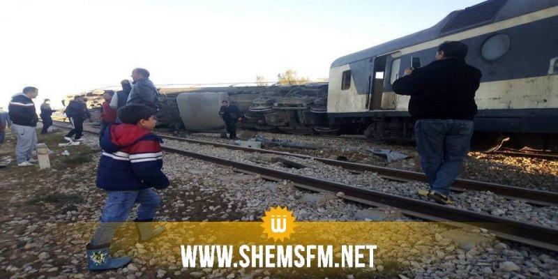 انقلاب قطار قادم من قابس في اتجاه العاصمة