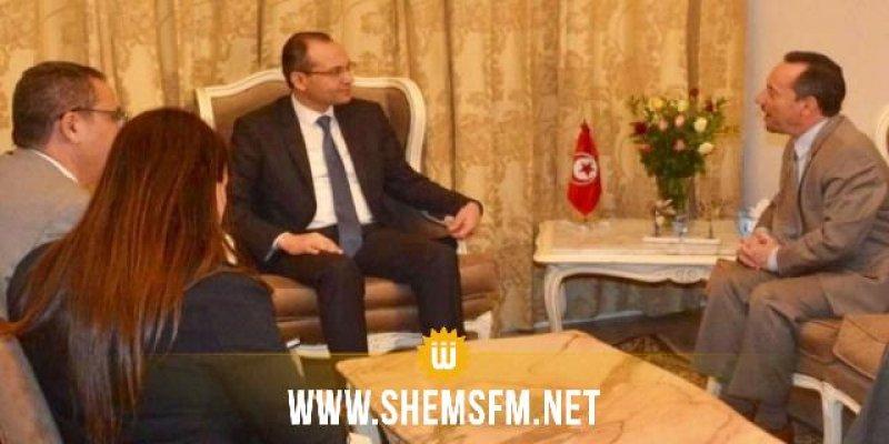 بمناسبة إنتهاء مهامه في تونس: وزير الدّاخلية يستقبل السفير الأمريكي