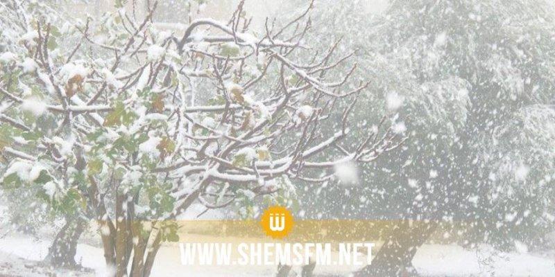 طقس الجمعة 11 جانفي: تساقط الثلوج والحرارة تصل إلى درجتين تحت الصفر