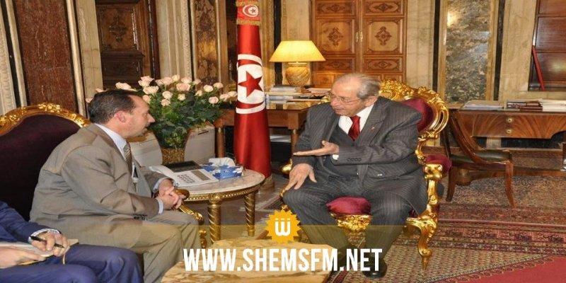 رئيس البرلمان يستقبل السفير الأمريكي بمناسبة انتهاء مهامه