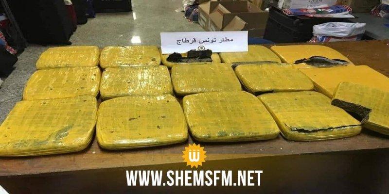 حاولت إرشاء عون ديوانة: حجز حوالي 10 كغ من الماريخوانا لدى مسافرة في مطار تونس قرطاج