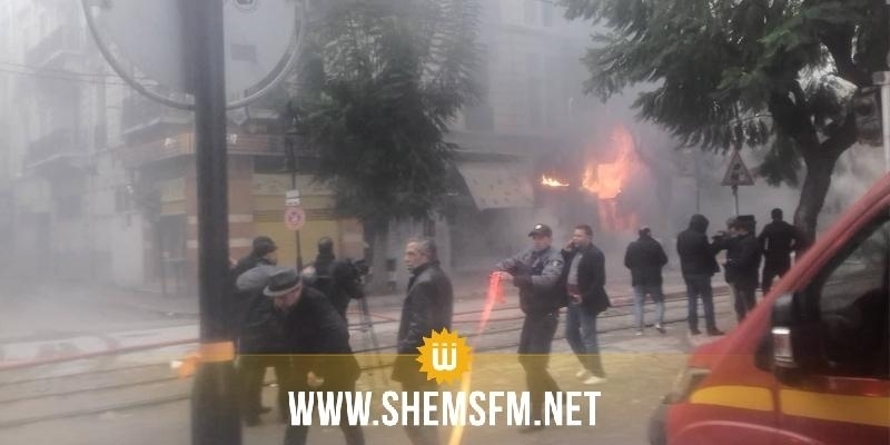 Un énorme incendie au centre ville de Tunis, le trafic du métro suspendu (Photos)