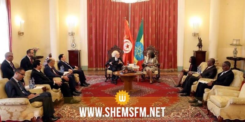 رئيس الجمهورية يؤكد على أهمية فتح ممثلية دبلوماسية إثيوبية في تونس