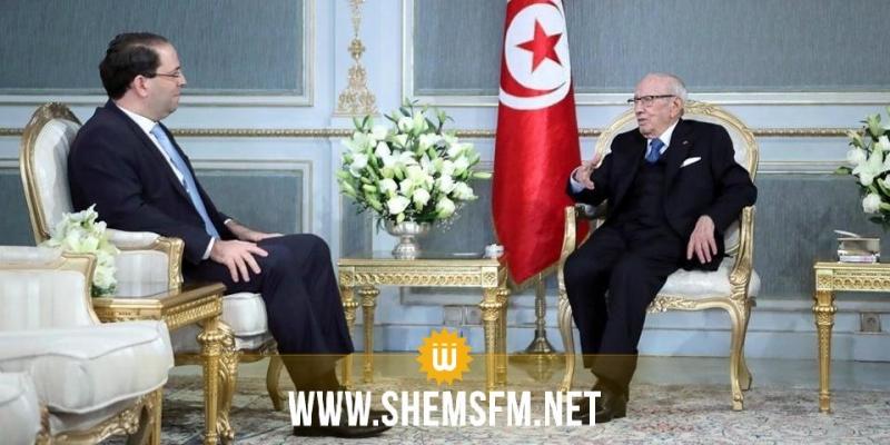 رئيس الجمهورية يلتقي برئيس الحكومة