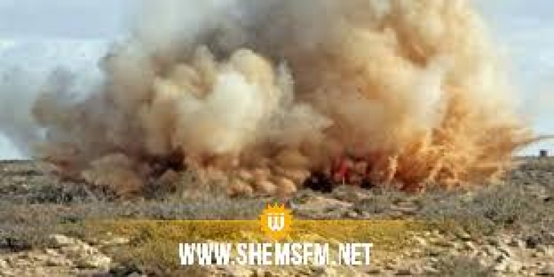 القصرين: بتر ساق عامل مقاولات  أُصيب في انفجار لغم