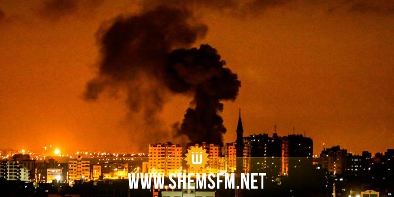 الكيان المحتل يشن ضربات جوية على غزة