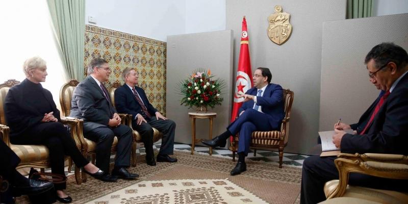دعم التعاون التونسي الأمريكي محور لقاء رئيس الحكومة بوفد من الكنغرس الأمريكي