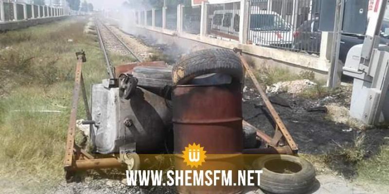 وفاة 3 أطفال في حادث قطار: غلق الطريق ونصب خيمة على السكة بساقية الزيت