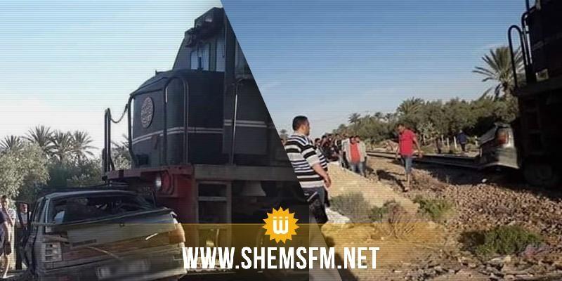 قفصة: وفاة شخصين في حادث تصادم قطار لنقل الفسفاط وسيارة خفيفة