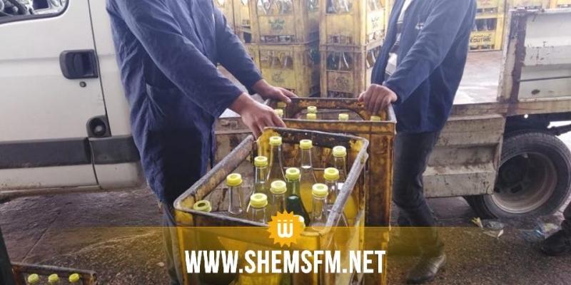 (بالصور)  بنزرت: توزيع كميات من الزيت النباتي المدعم تحت مراقبة  أعوان التجارة