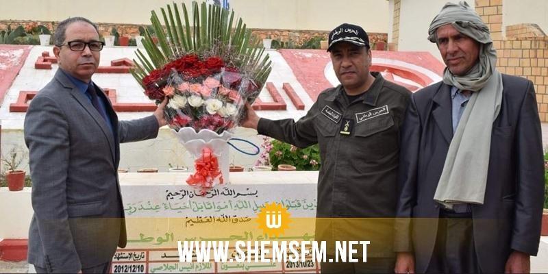 القصرين: إحياء الذكرى الثالثة لإستشهاد الرائد في الحرس الوطني خالد اللطيفي