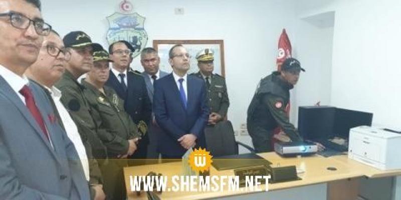 وزير الداخلية يفتتح المقر الجديد لفرقة الحدود البرية برمادة
