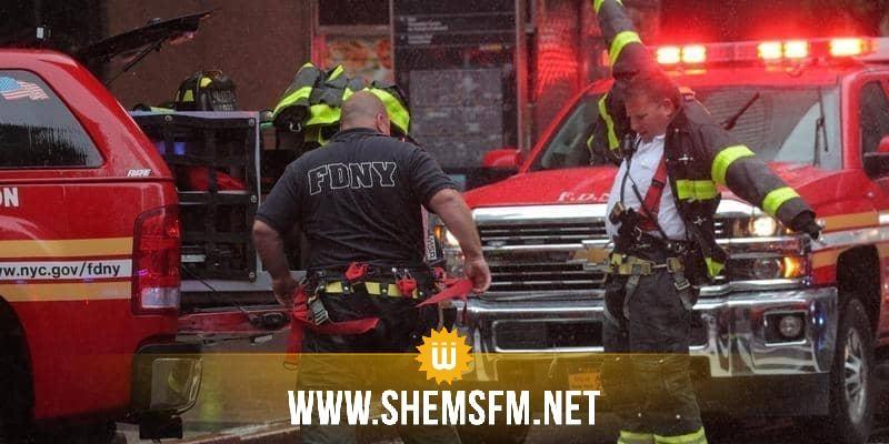 نيويورك: مروحية تصطدم بأحد المباني