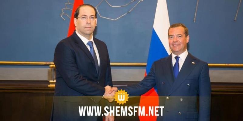 في جنيف: رئيس الحكومة يبحث مع نظيره الروسي سبل التعاون الإقتصادي ودفع الاستثمار