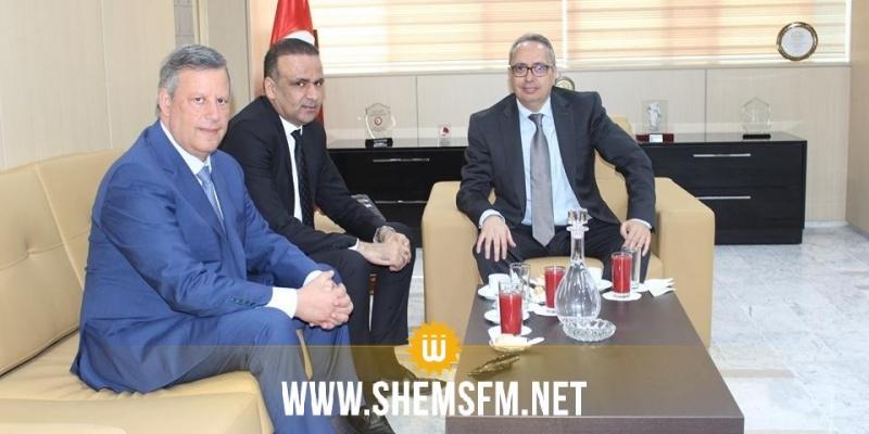 وزير العدل يلتقي حمدي المدب ووديع الجريء