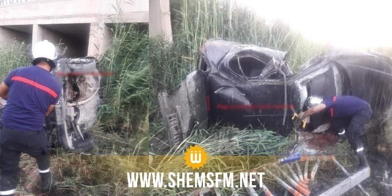 مدنين: سقوط سيارة في وادي يسفر عن وفاة شاب وإصابة آخرين