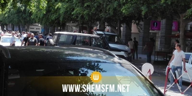 Ratissage des lieux à proximité de la direction de la police judiciaire d'Al Gorjeni